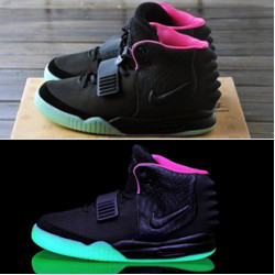 Nike Yeezy 2 черный с зеленым